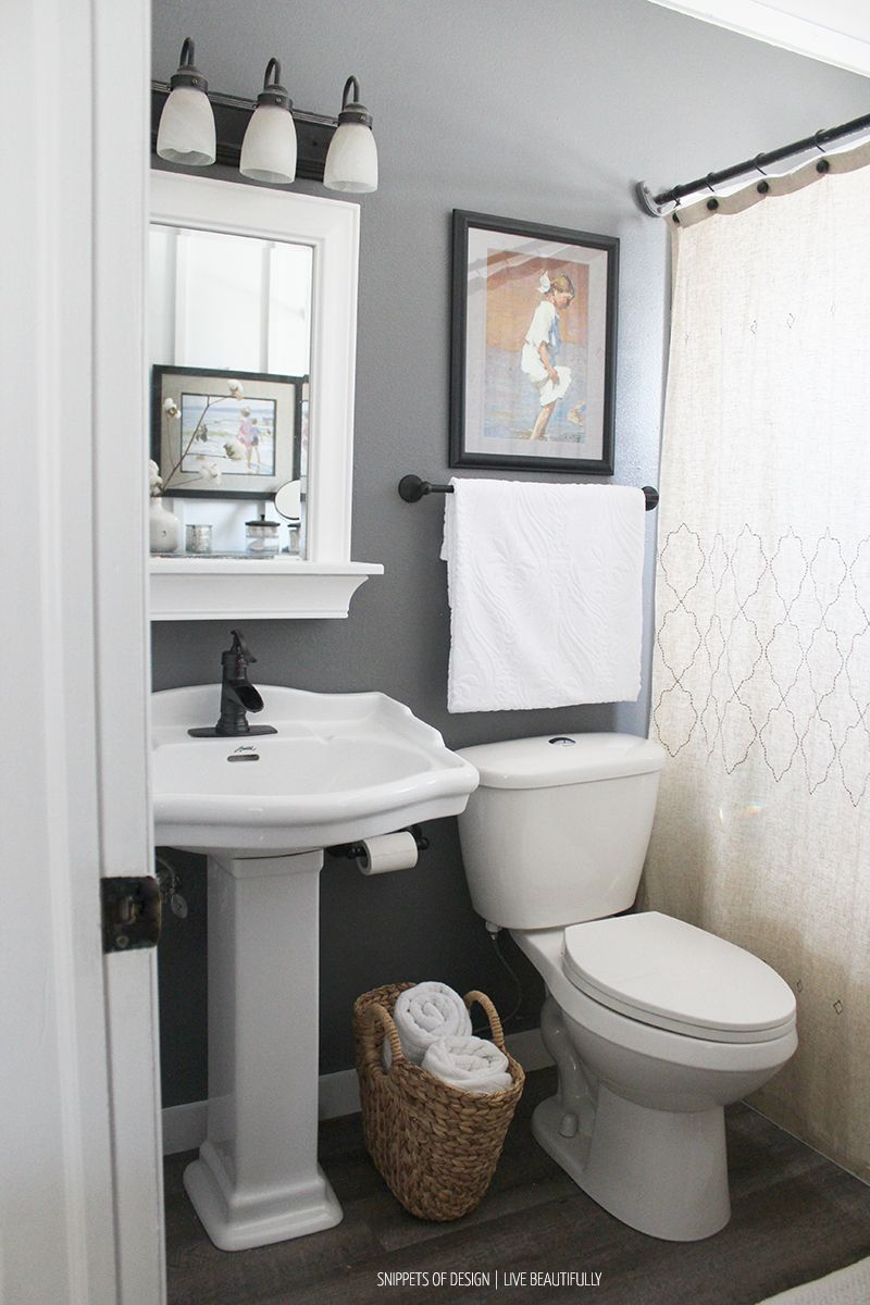Small Master Bathroom Makeover - excellent post shows how a small ...
