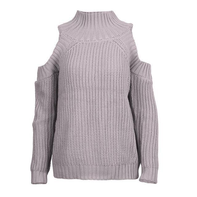 Autumn Winter Women Off Shoulder Turtleneck Sweater  65e9e0660
