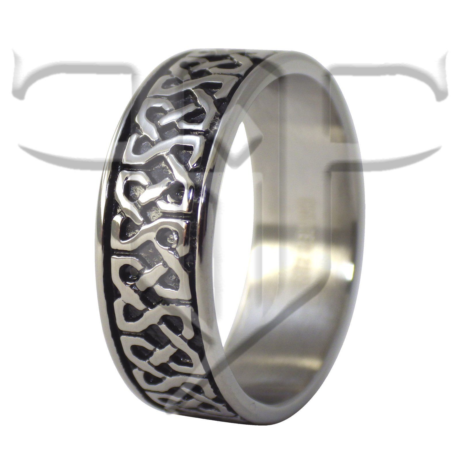 celtic knot fashion ring stainless steel wedding band men s
