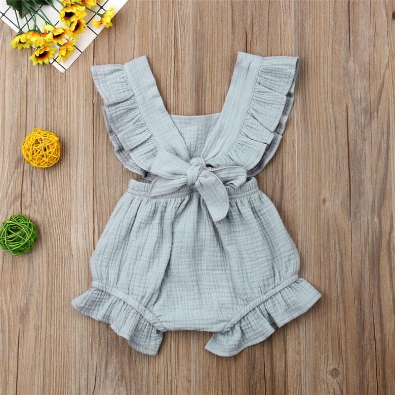 Baby Girl Summer Ruffle Fly Sleeve Romper Playsuit Jumpsuit Outfit Clothes 0 24m Wearlook Moda Infantil Para Meninas Vestidos Infantis Roupas De Bebe Unissex