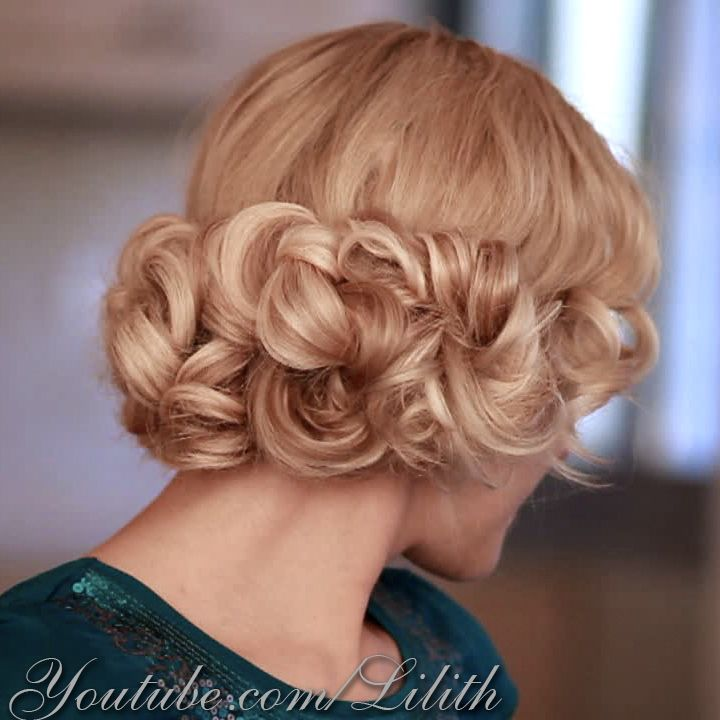 Elegant Curly Updo Hairstyle For Hair Tutorial Httpyoutube