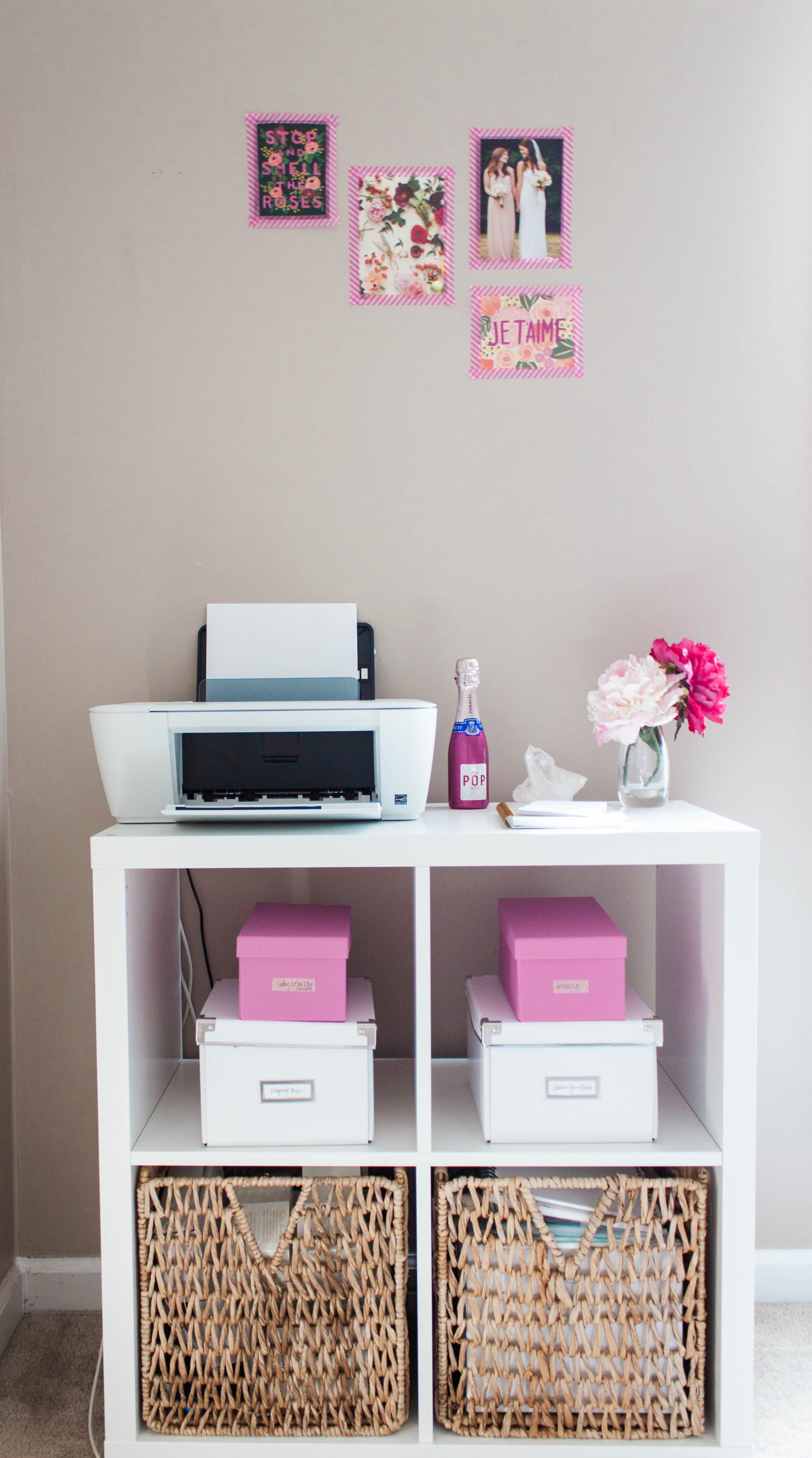 Decoration Bureau Homme Bonnie Bakhtiari 39s Pink And Chic Home Office Office Tour