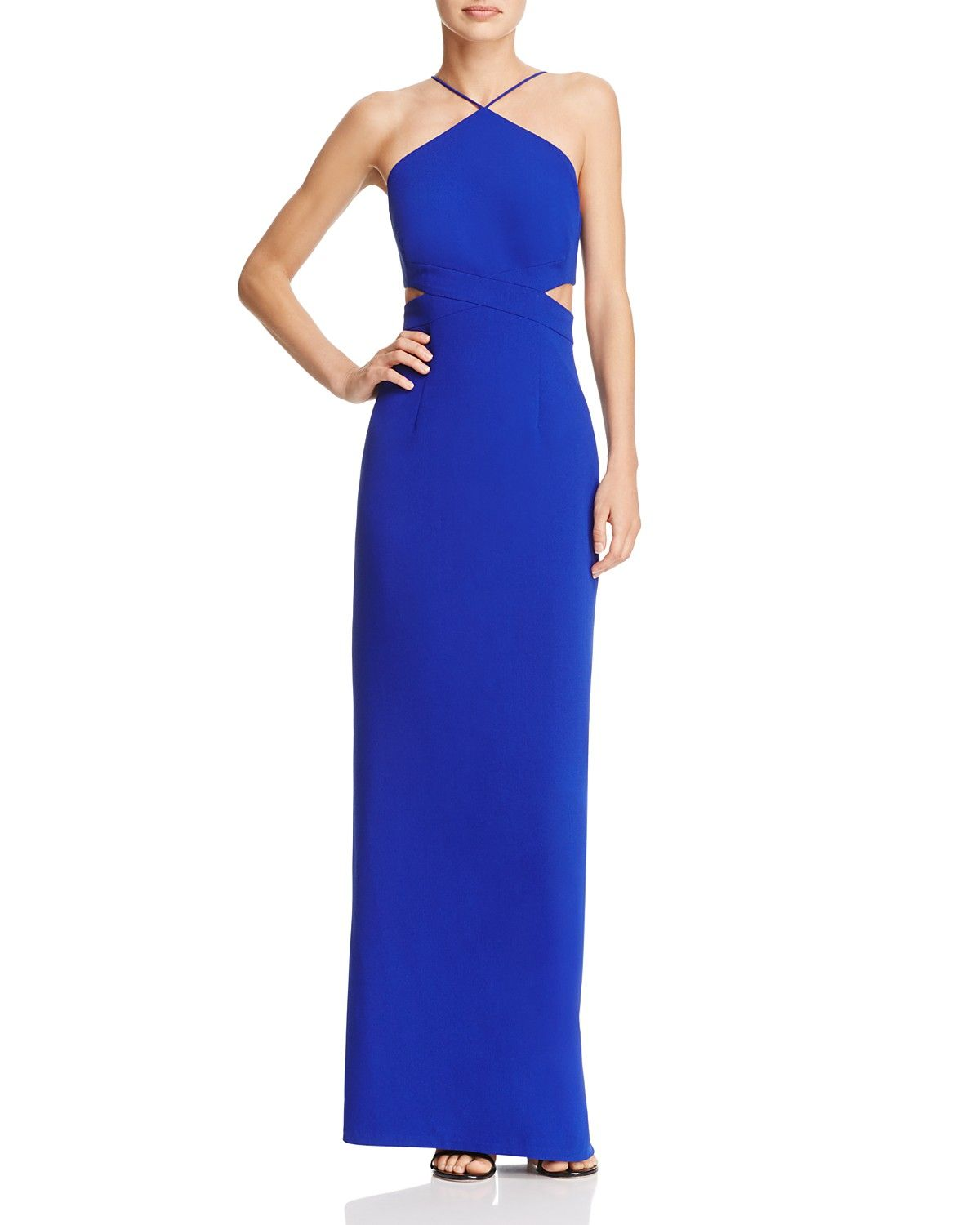 Cutout Crepe Gown - 100% Exclusive