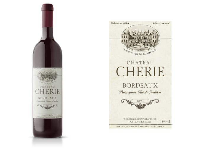 FREE Fake Brands and Packaging for Film and TV - Wine Label - Save