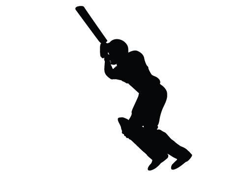 cricket bating silhouette vector download cricket vector