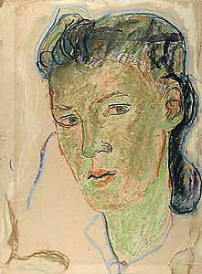 Charlotte Salomon (1917-1943), Self-Portrait, 1939-1941, oil crayon on paper; Gift of Ottilie Gobel Bourne
