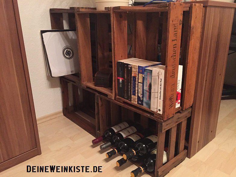 Weinregal aus weinkisten  Einfaches Weinregal aus Weinkisten (mit Anti-Holzwurm ...