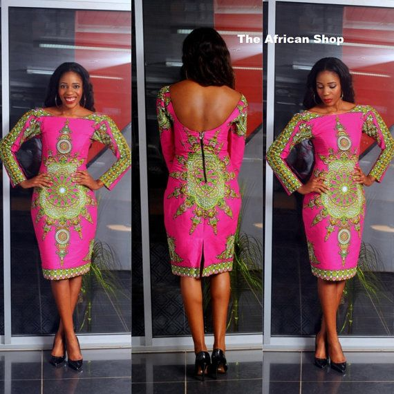 Ella  Pencil Dress by THEAFRICANSHOP on Etsy, £60.00