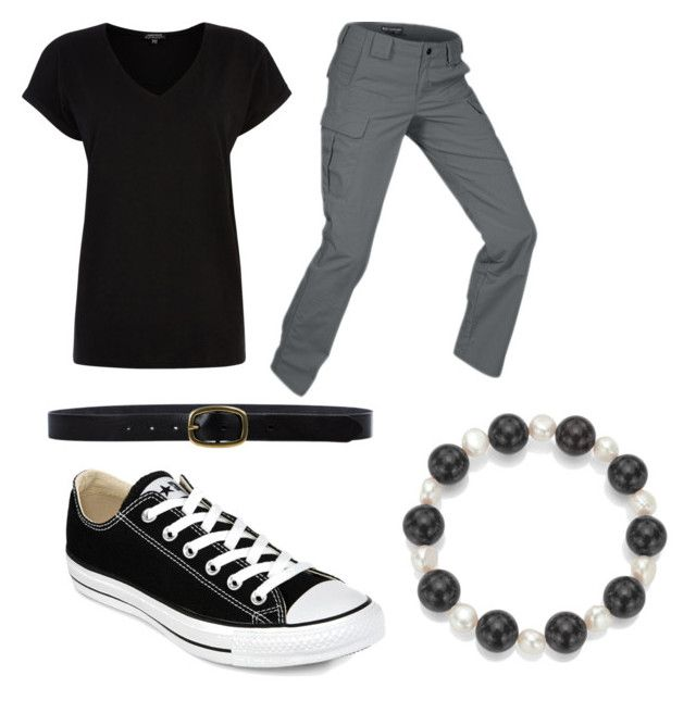 """Kyo"" by whitneyrose98 on Polyvore featuring DaVonna, Warehouse, 5.11 Tactical, Linea Pelle and Converse"