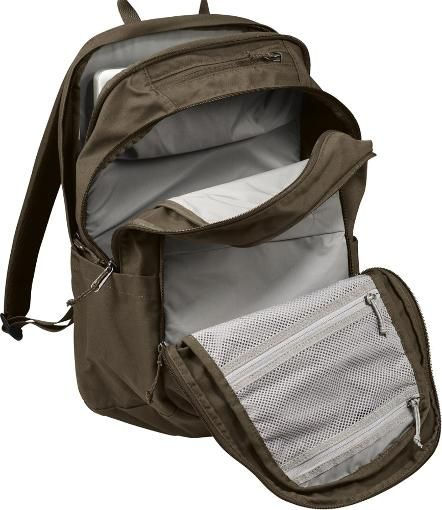 2425f1bb9 Shown open (Dark Olive) Simple, practical and durable, the Fjallraven Raven  28