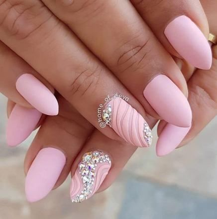 nails pink sparkle instagram 54 ideas  classy nail designs