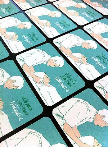 Cartes De Visite Originales Pour Osteopathe Formules Creation Sur Mesure Ou Modele Tout Pret Renseignements Avamartin Illustration