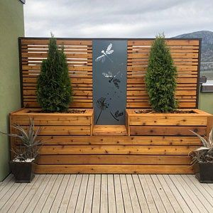 Metal Privacy Screen Decorative Panel Garden Decor Art   Hiddenflower1