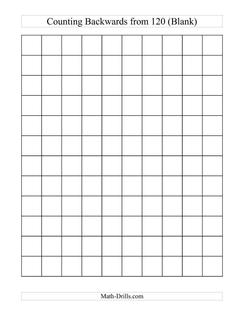 Backwards 120 chart blank c free worksheet math pinterest backwards 120 chart blank c free worksheet nvjuhfo Choice Image