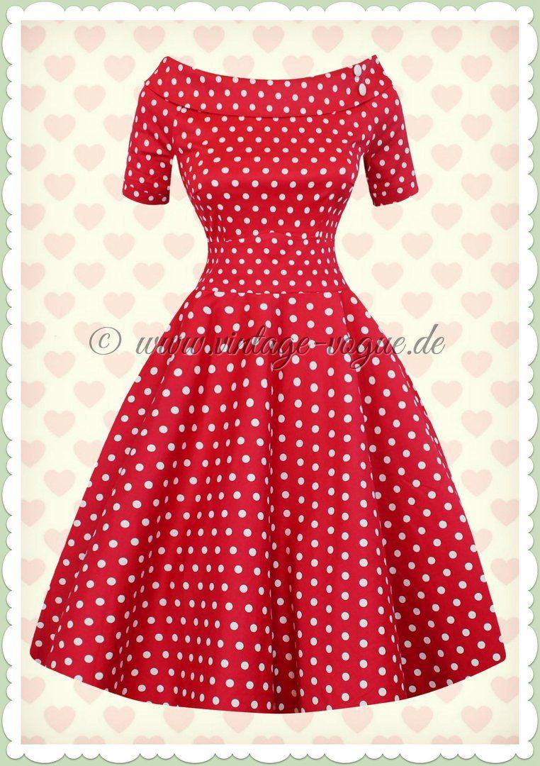 Kleid punkte rot