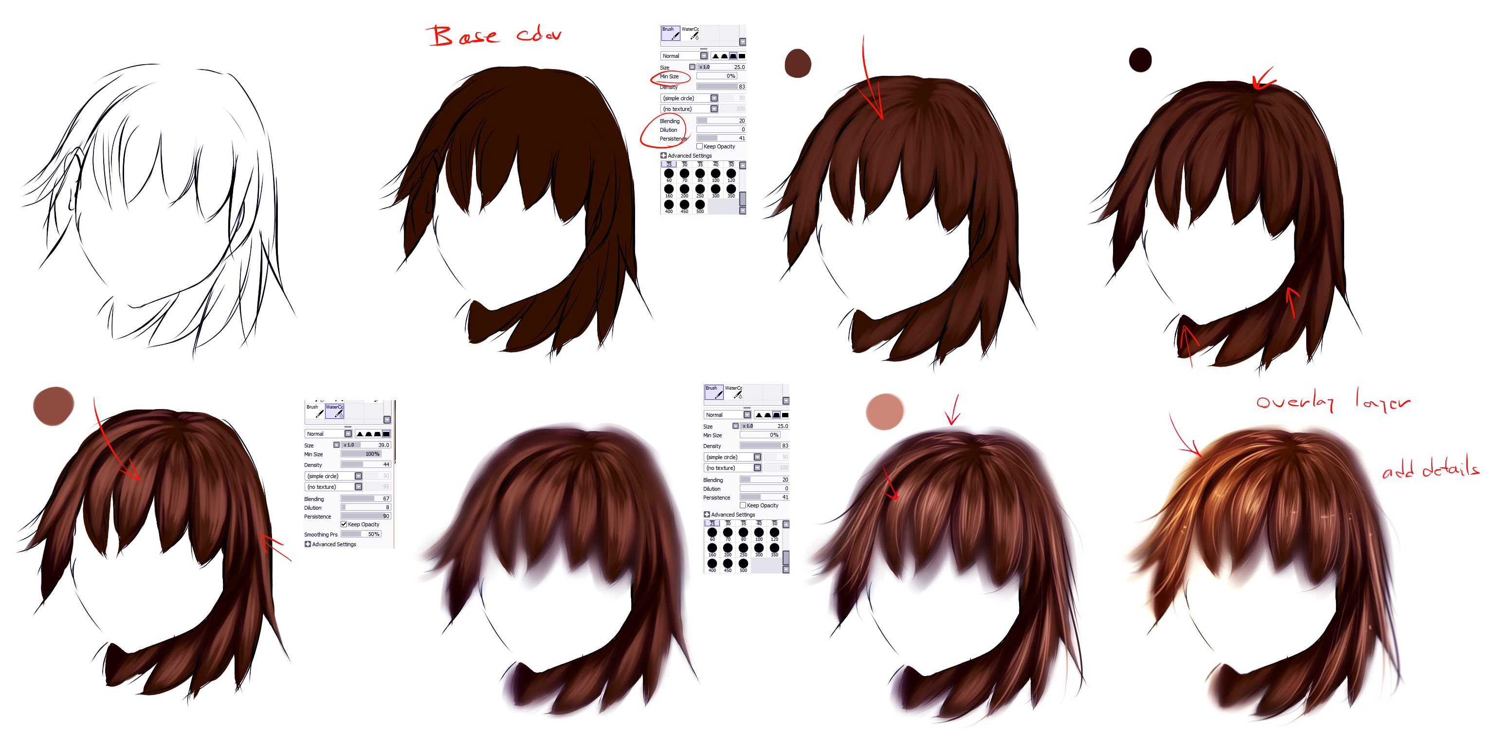 Easy Anime Hair Tutorial Anime Hair Hair Tutorial Coloring Tutorial