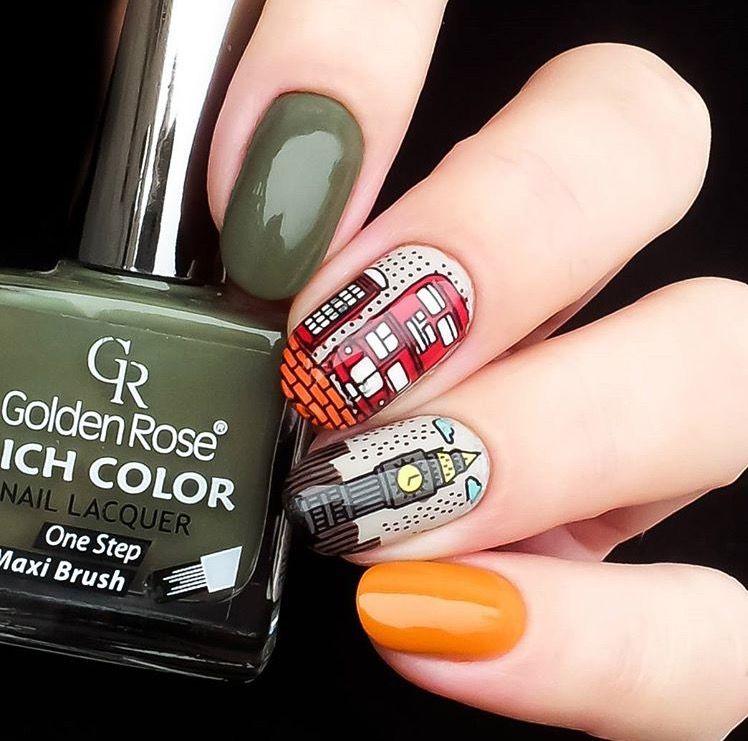 Btartbox Stickers Different Designs Decals Manicure Nails