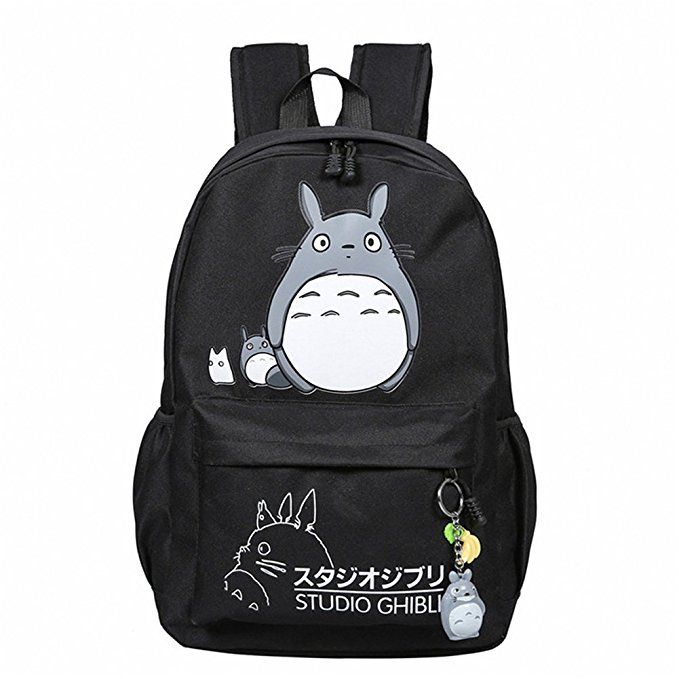 164ed07faa17 YOURNELO Fashion Boys Girls Miyazaki Hayao Totoro Canvas School ...