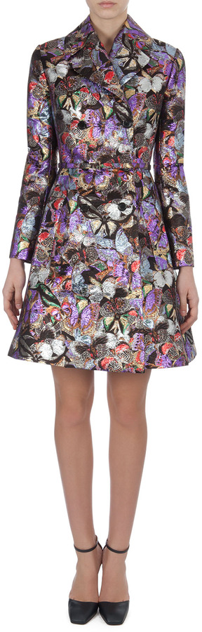 Valentino Metallic Butterfly Brocade Coatdress on shopstyle.com