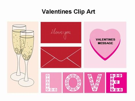 valentine's day clip art, free powerpoint templates from, Presentation templates