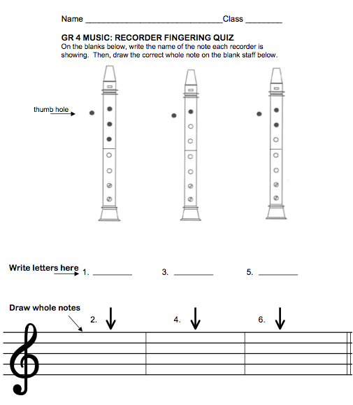 Beths music notes assessments be sure to check her page for other beths music notes recorders quizzes rubrics and folk tunes ccuart Gallery