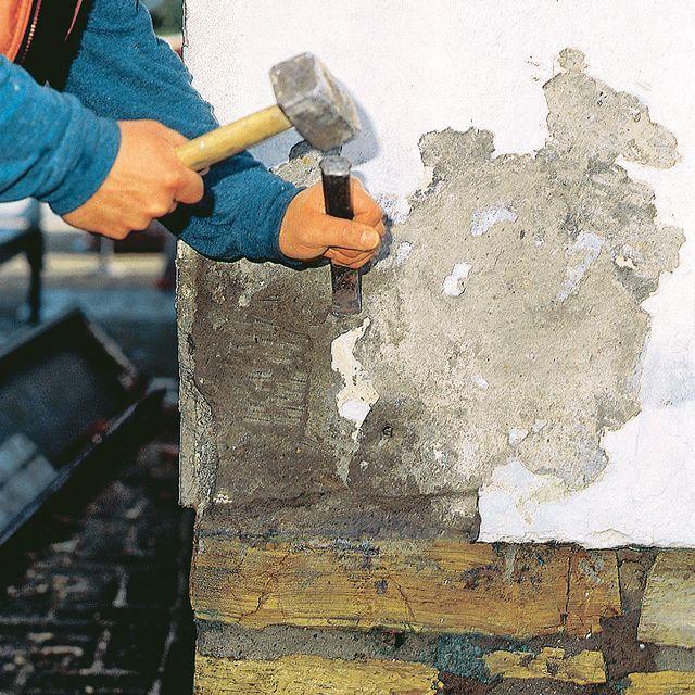 Fassadenputz aussenputz pinterest wand verputzen putz und verputzen - Feuchte wand verputzen ...