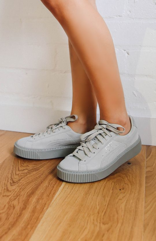 f872e86397d1b Puma Basket Platform Reset Womens Sneaker - Gray Violet from ...