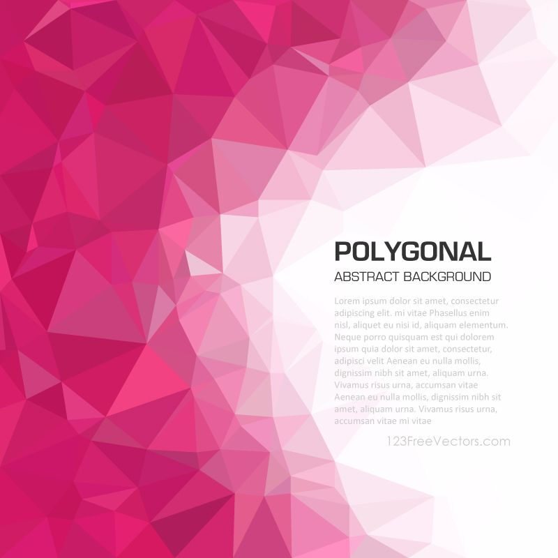 Abstract Pink Geometric Polygon Background In 2020 Geometric