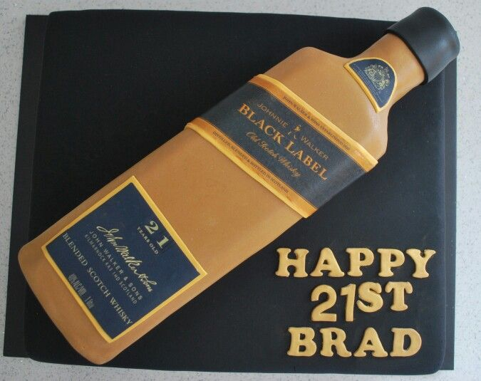 Johnnie Walker Black Label Cake  Favorite Places  Spaces