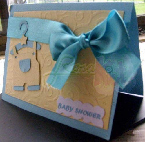 invitaciones hechas a mano para baby shower de varon - Buscar con ...