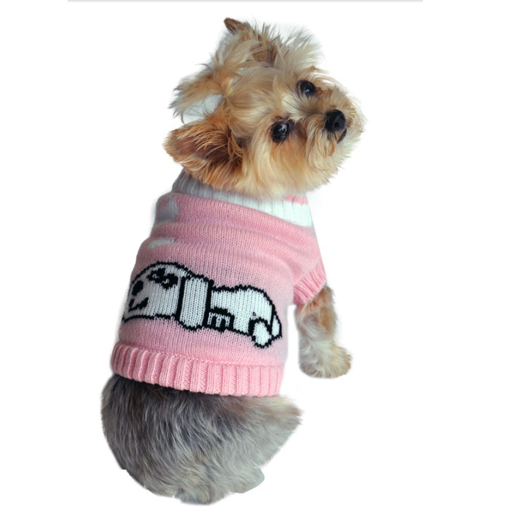 Doggie Design Dreaming Dog Sweater in Color Pink