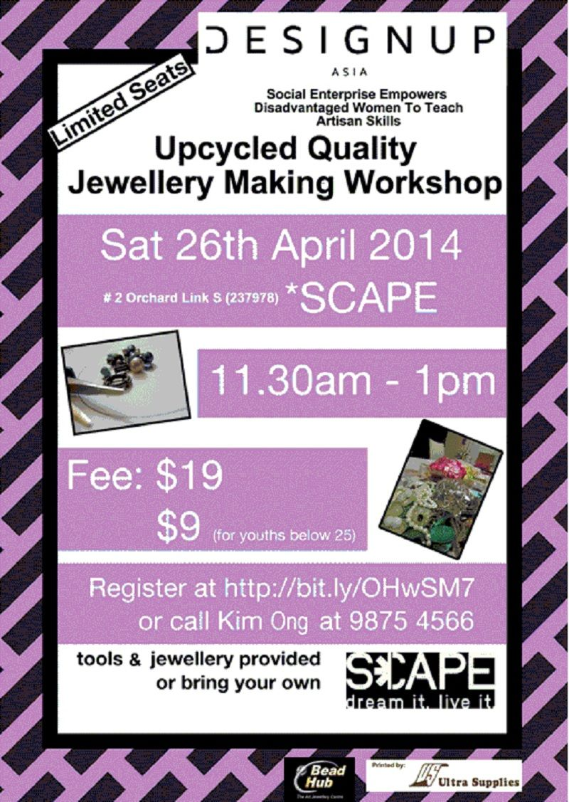 event flyers designupasia upcycled quality jewellery making workshop