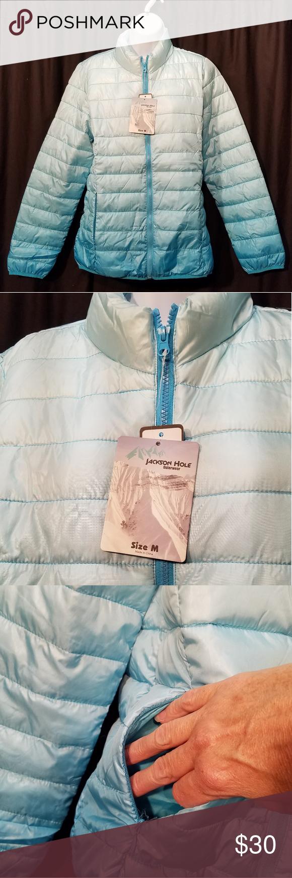 Jackson Hole Ombre Blue Puffer Jacket New Jackson Hole Outwear Ombre Blue Size Medium Long Sleeve Puffer Vest Wit Blue Puffer Jacket Blue Ombre Puffer Jackets [ 1740 x 580 Pixel ]