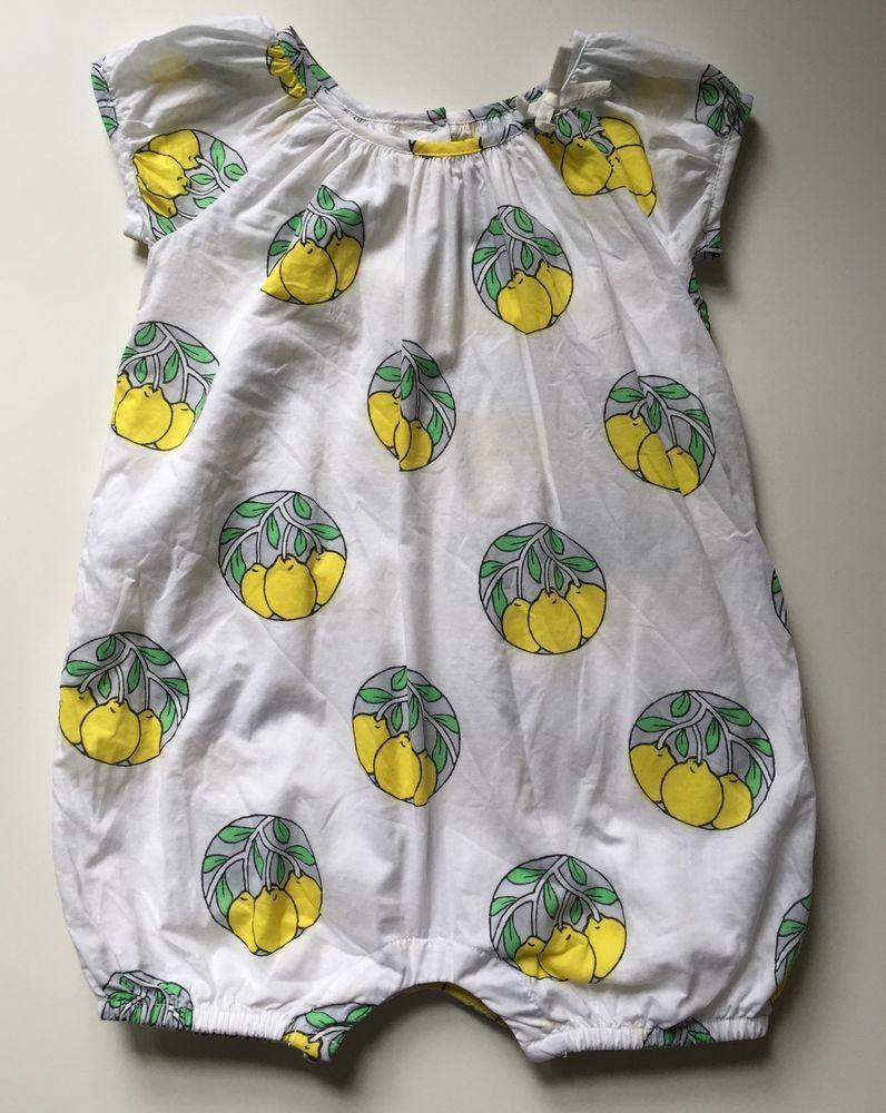 2e92e2d5008f Baby Gap White Yellow Lemon Short Romper Summer Girl 12-18 Months  babyGap   Everyday