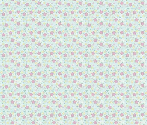 Kawaii Stars and Hearts fabric by lithe-fider on Spoonflower - custom fabric