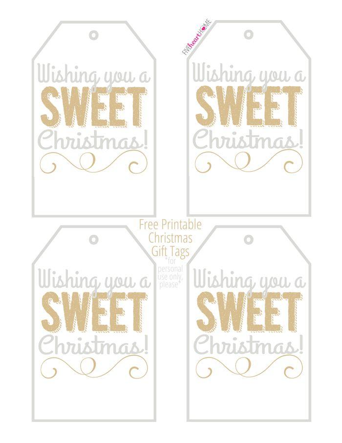 free printable christmas gift tags wishing you a sweet christmas