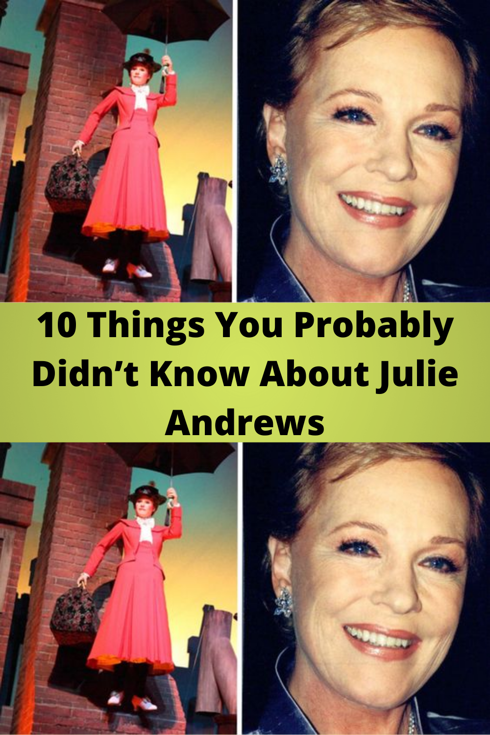 10 Things you probably didn't know about Julie Andrews in 2020 | Spotlight  stories, Wtf funny, Women stories