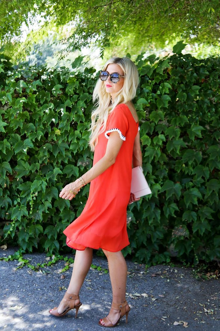 DIY Red swing tassel dress. Casual travel inspiration.