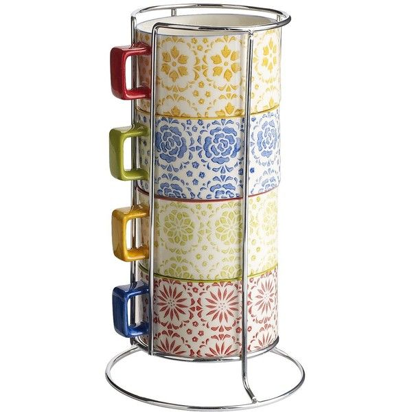 pier 1 imports floral coffee cups with