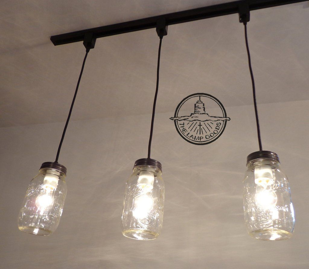Mason Jar Track Lighting Pendant Single New Quart