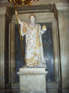 Life size statue of Emperor Napoleon in Crypt of the Dome Church - Hôtel Royal des Invalides