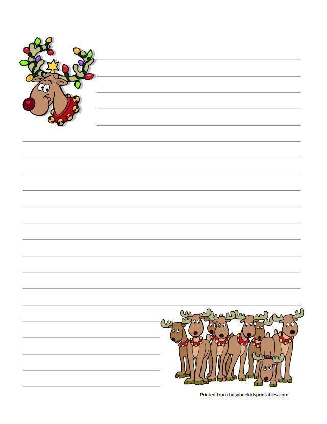 free christmas letterhead templates printable