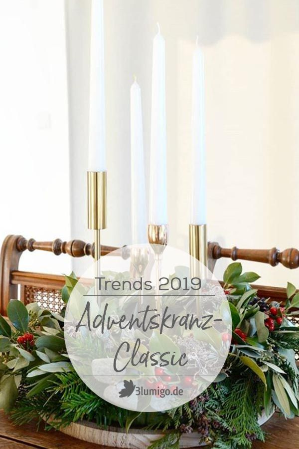 Die 5 Adventskranz-Trends 2019