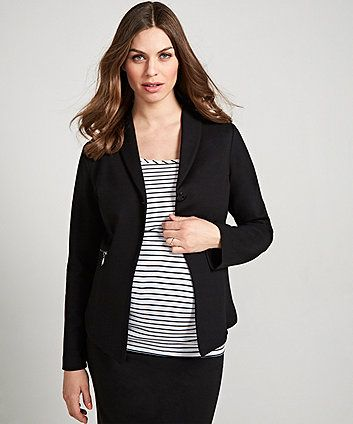 Black Ponte Maternity Jacket