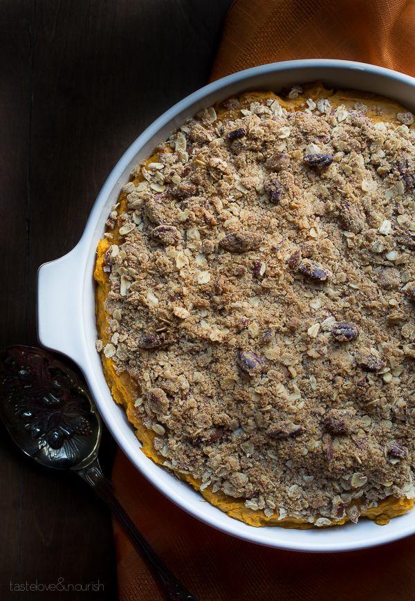 Sweet Potato Casserole | @tasteLUVnourish | #sweetpotato #casserole #light @lovemysilk
