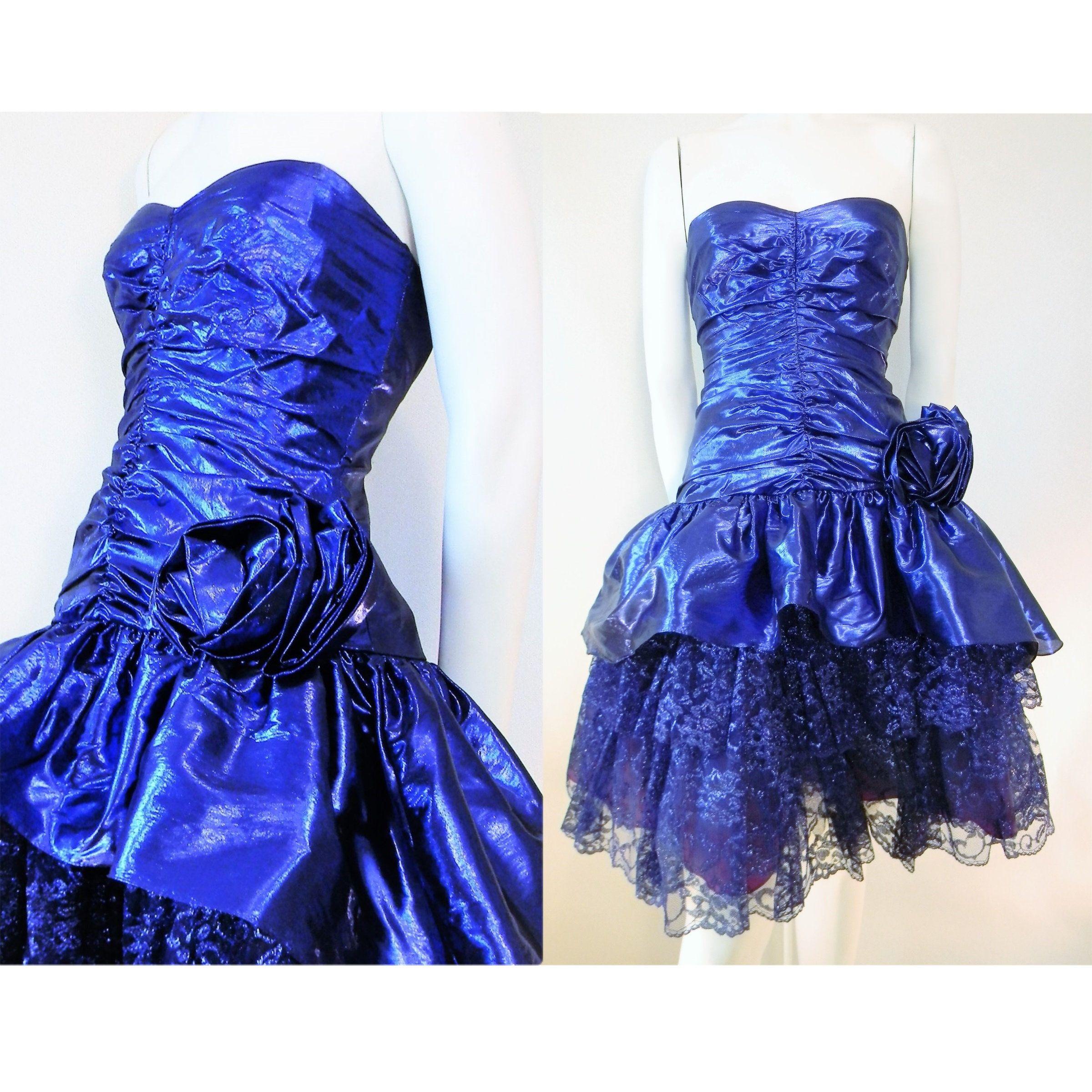 80 S Xxs Cobalt Blue Tissue Lame Lace Prom Cocktail Etsy Cocktail Party Dress Prom Party Dresses Party Dress [ 2400 x 2400 Pixel ]