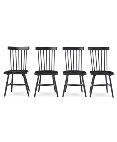 Furniture Bensen Dining Chair 4 Pc Set Set Of 4 Chairs Created For Macy S Reviews Farmhouse Dining Chairs Modern Farmhouse Dining Black Dining Chairs Dining chair set of 4