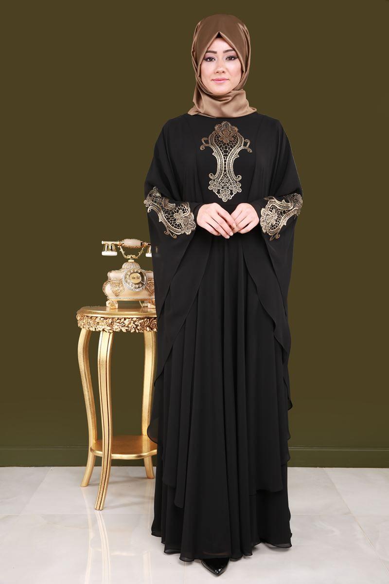 Size Ozeller Pelerinli Tesettur Abiye Siyah Urun Kodu Ech7152 149 90 Tl Basortusu Modasi Arap Elbisesi Moda Stilleri