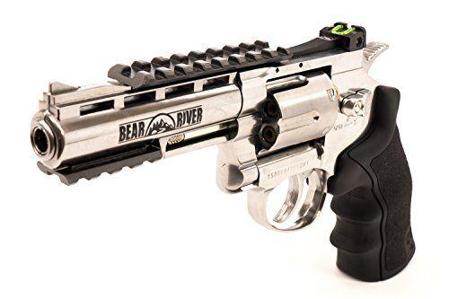 BB Gun Bear River Exterminator 4 inch Chrome Full Metal CO2
