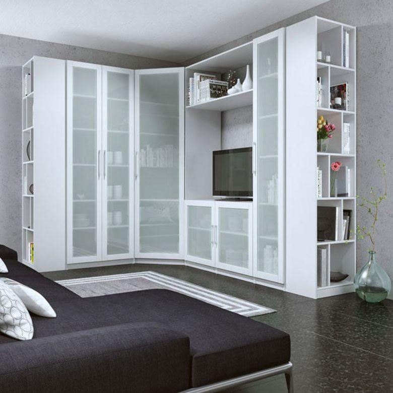 caisson d 39 angle droit avec colonne 4 tablettes x p. Black Bedroom Furniture Sets. Home Design Ideas
